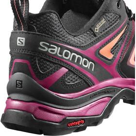 Salomon X Ultra 3 GTX Wanderschuhe Damen Tawny Port/Black/Living Coral